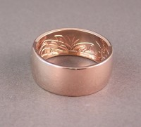 Orca Hand Carved inside Custom 14kt Red Gold Wedding Ring