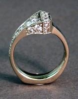 Ashley's Horseshoe Nail Engagement Ring