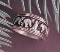 Sterling 3 Bears Story Ring