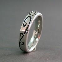 Custom CTR Emblem Ring with side swirls