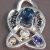 tanzanite stone set on sterling pendant