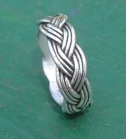 Custom Nautical Braided Wedding Ring