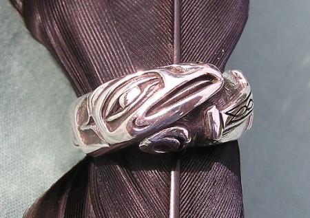 Custom Raven and Thor's Hammer Ring