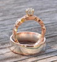 Red Gold Custom Wedding Rings