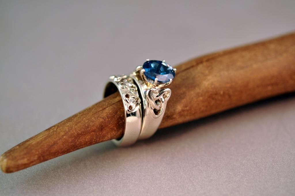 custom celtic loveknot wedding ring set finished