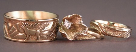 Photo of Elk carving on Custom 'Wedding Ring