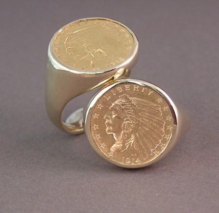 Quarter Eagle Custom Coin Rings