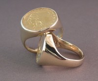 14kt Coin Rings