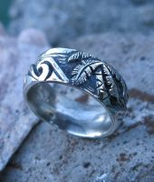 Custom Sterling Silver Surfer Ring