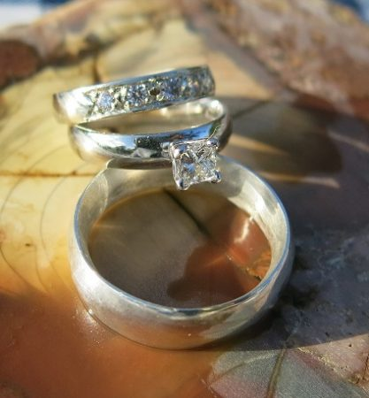 Princess Cut Diamond Wedding Ring for a Princess
