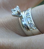 Princess Cut Diamond Engagement and Wedding Rings