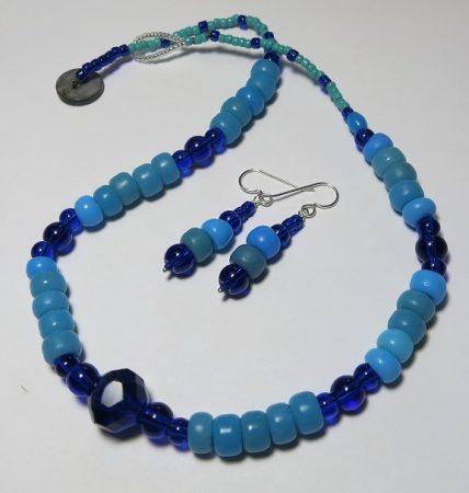 Rainy Day Blues Trade Beads