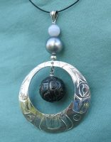 Raven and the Moon with keepsake Tahitian Pearl