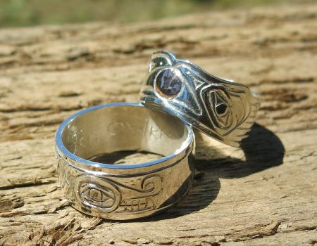Custom Handcarved Wedding Rings
