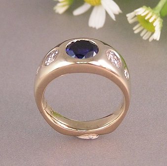 14kt Memorial Ring from Recycled Family jewelry