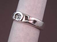 Sterling Silver Custon designed CTR Ring