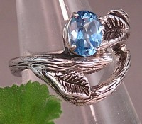 Sterling Silver and Sapphire Gemstone Custom Engagement Ring