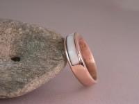 Custom 14kt Red Gold Men's Wedding Ring
