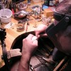 Owen hand carving Sterling Bracelet