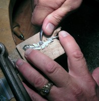 Photo of Owen Walker Owen Setting Kate's big Diamond