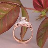 Red Gold Mother's Ring with diamonds