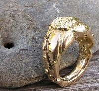 18kt yellow Octopus Wedding Ring