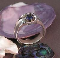 A Custom Surfer Sapphire Wedding Ring