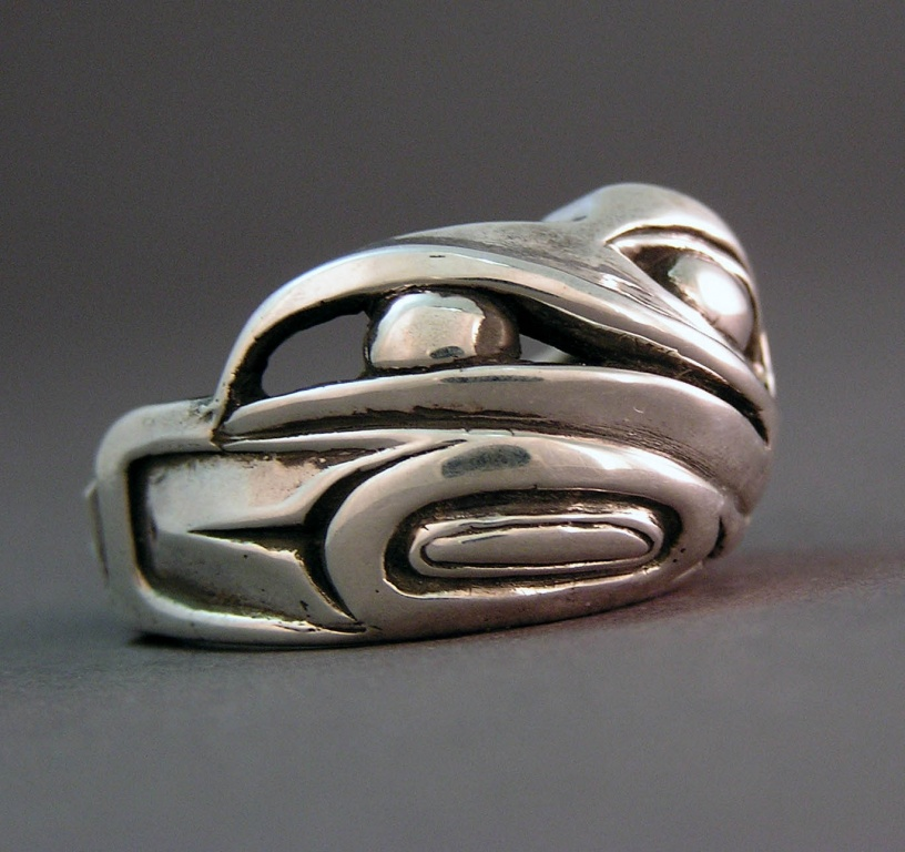 Photo of Sterling lost wax cast Raven ring