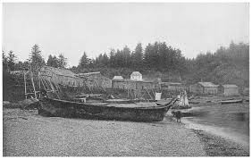 Photo of a Salish village