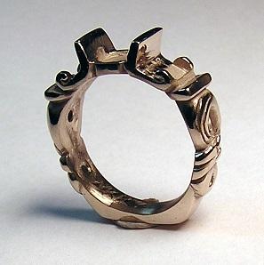 Shanons Custom Art Deco Wedding Ring