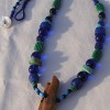 "Artifact of Prehistoric Walrus Harpoon Head ""Shaft Socket"" with Blue and Green Trade Beads"