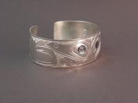 photo of The Sassy Raven handcarved sterling silver bracelet 2