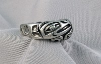 Photo of Raven and Wolf Cast Sterling Ring