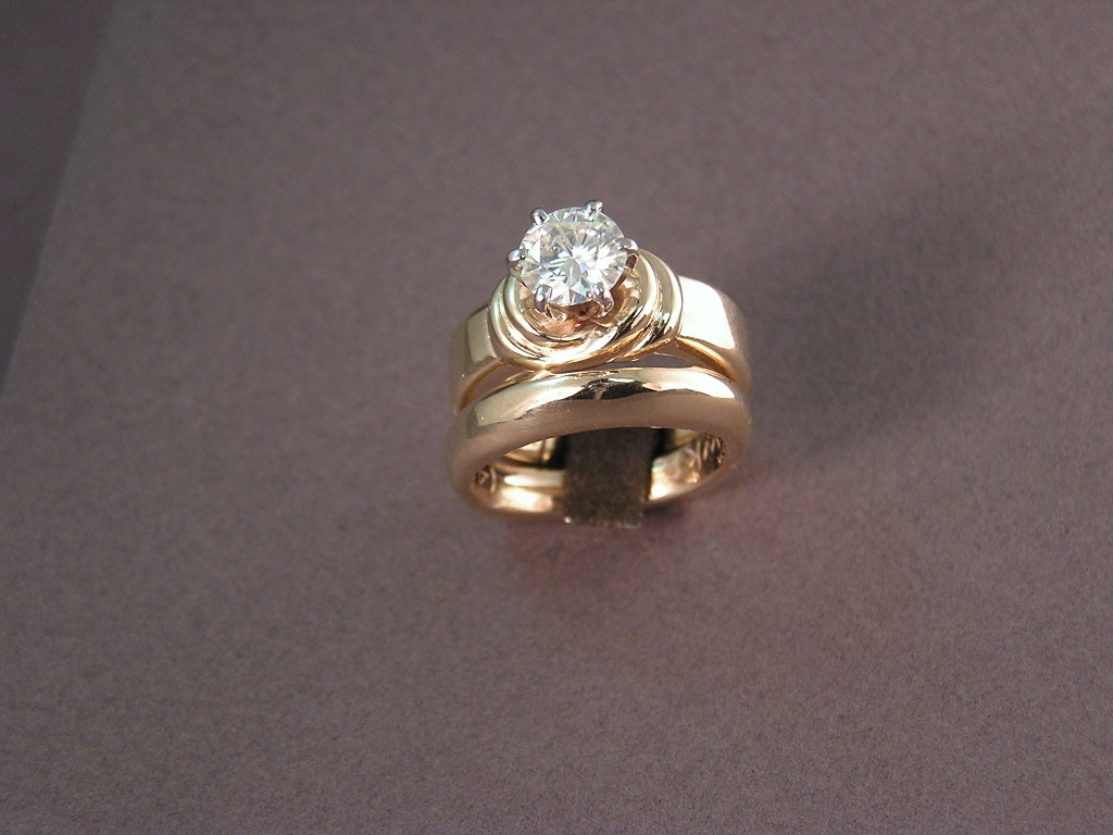 custom wedding rings for sweethearts to tie the knot With the knot wedding rings