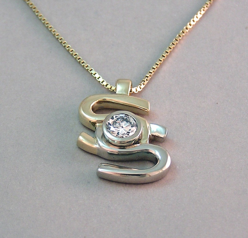 Walker goldsmiths designs custom pendant walker goldsmiths custom pendant designed from company logo aloadofball Images