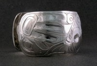 Photo of Hand Carved Sterling Totem Bracelet D9 by Owen Walker