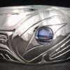Photo of Hand Carved Sterling Alpha Wolf Bracelet Design 7 by Owen Walker