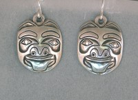 Photo of Walker-Goldsmiths-cast-Sterling-Bear-Earrings-#600