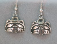 Photo of Walker-Goldsmiths-cast-Sterling-Beaver-Earrings-#602