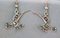 Photo of Walker-Goldsmiths-cast-Sterling-Hummingbird-Earrings-#608