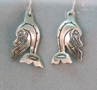 Photo of Walker-Goldsmiths-Cast-Sterling-Whale-Earrings-#616