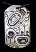 Photo of Sterling Silver Hand Engraved Thunderbird Tag